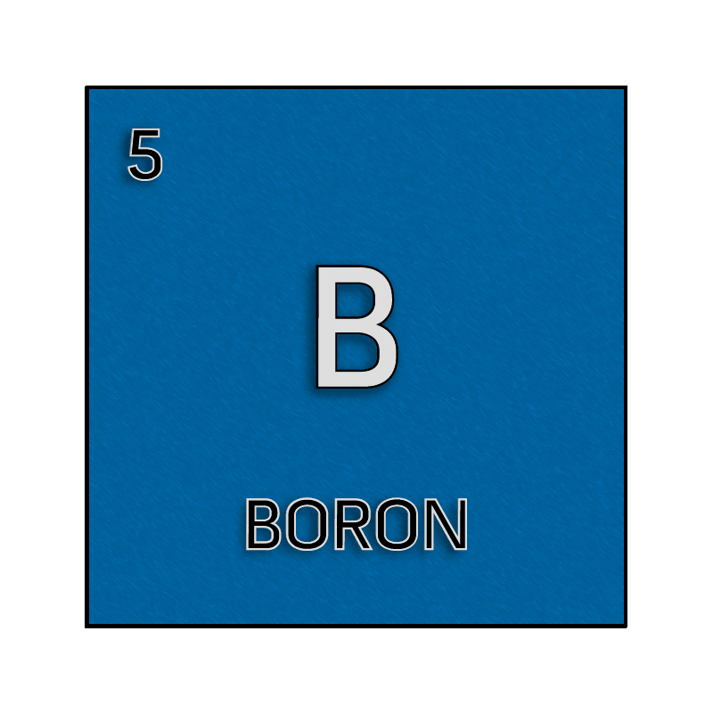 color element cell for boron science notes and projects