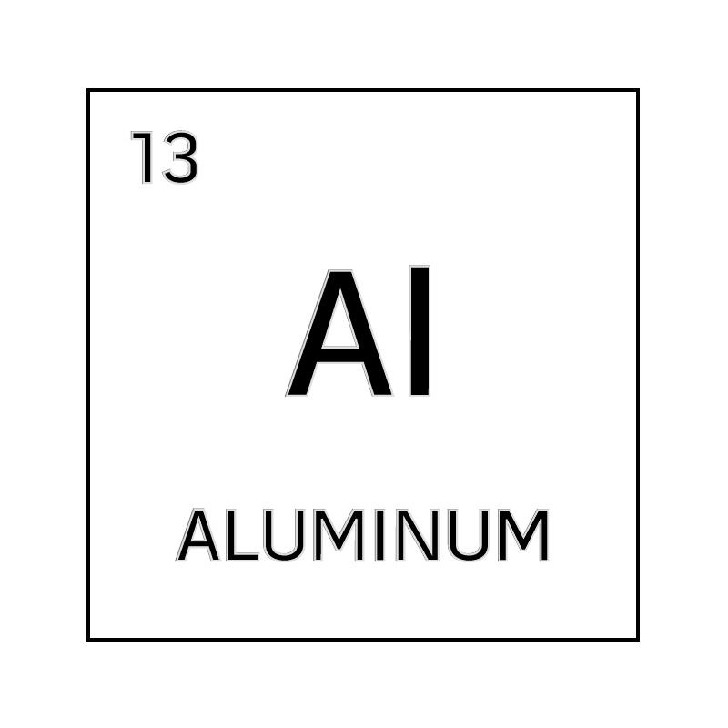 Black And White Element Cell For Aluminum.